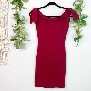 COSMOPOLITAN Yours Truly Cranberry Dress